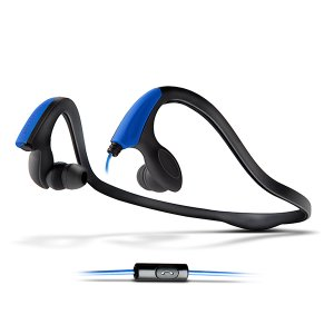 Energy Earphones Running Two Neon Blue ( With Microphone)