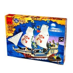 Set de fichas Barco Pitada tipo lego-KING OF THE SEAS