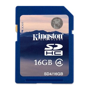 Kingston SD4 16GB Class4 Tarjetas de Memoria